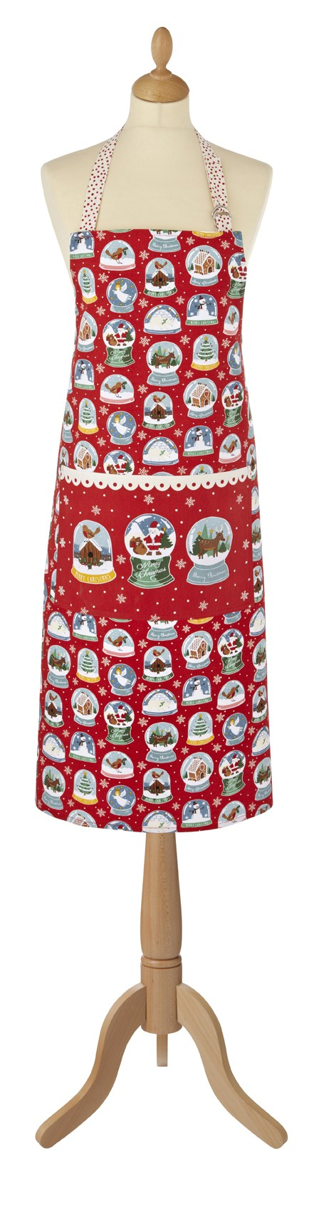 Christmas Snow Globes Cotton Apron